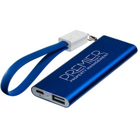 Ready to Go 2000mAh Power Bank with Cable