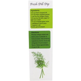 Promotional Recipe Bookmark