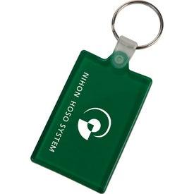 Logo Rectangle Key Tag