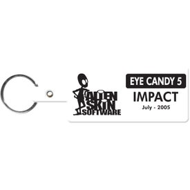 Rectangle Flexible Key Tag
