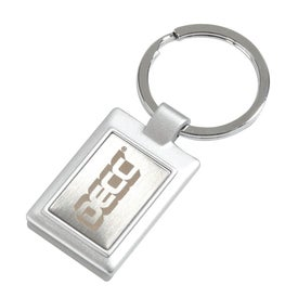 Rectangle Metal Keytag