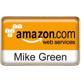 Customized Rectangle Name Badge