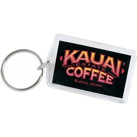 Rectangular Acrylic Key Tag