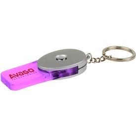 Company Rectangular Key Chain with LED Moodlight