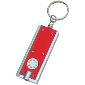 Branded Rectangular LED Key Chain