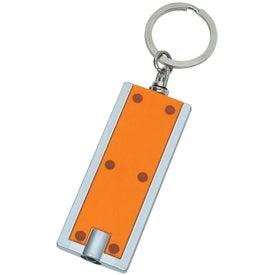 Rectangular LED Key Chain for Advertising