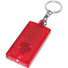 Rectangular LED Light Key Chain Imprinted with Your Logo