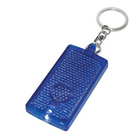 Rectangular LED Light Key Chain with Your Logo