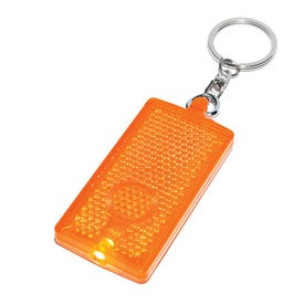 Rectangular LED Light Key Chain for Your Organization