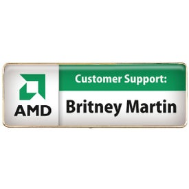 Rectangular Name Badge Branded with Your Logo
