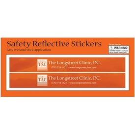 Rectangular Safety Reflective Stickers Giveaways