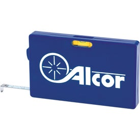 Rectangular Tape Measure with Level with Your Logo