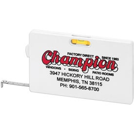 Rectangular Tape Measure with Level Giveaways
