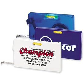 Advertising Rectangular Tape Measure with Level