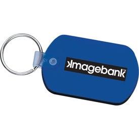 Company Rectangular Soft Key Tag