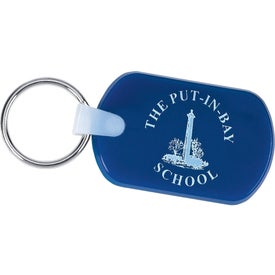 Rectangular Soft Key Tag for Promotion
