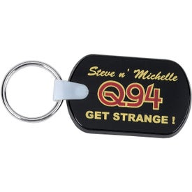 Rectangular Soft Key Tag Printed with Your Logo