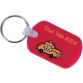 Rectangular Soft Key Tag for Your Organization