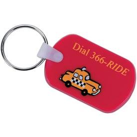 Rectangular Soft Key Tag for Your Organization