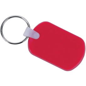 Rectangular Soft Key Tag Branded with Your Logo