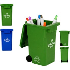 Branded Recycle Bin Pen Holder