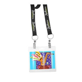 Printed Recycled Econo Dual Attachment Lanyard