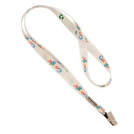 Recycled Sublimated Lanyard with Bulldog Clip