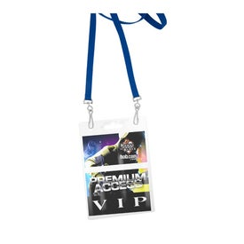 Recycled Econo Dual Attachment Lanyard with Your Slogan