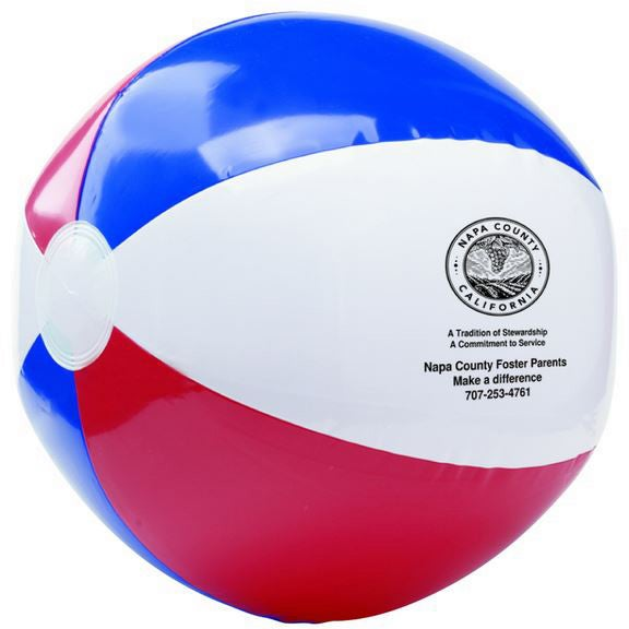 Red White and Blue USA Beach Ball