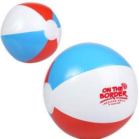 "Red White and Blue Beach Ball (10"")"