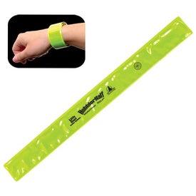 Imprinted Reflective Safety Slap Bracelet
