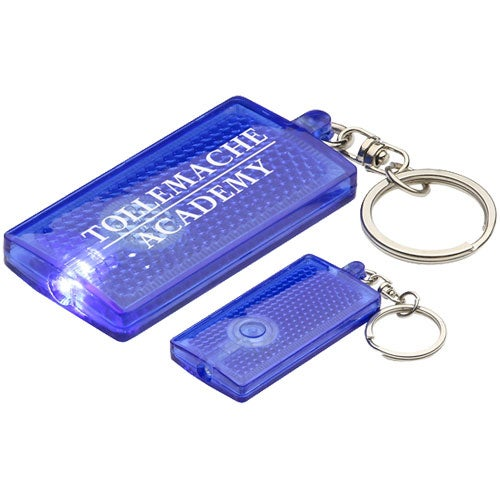 Blue Primary Touch Reflector Light Key Chain