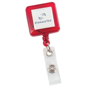 Custom Retract-A-Badge - Square