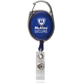 Ultimate Retractable Badge Holder with Carabiner Printed with Your Logo