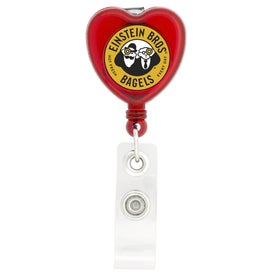 Advertising Heart Shaped Retractable Badge Holder