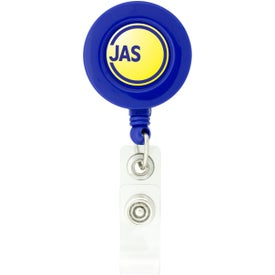 Round-Shaped Retractable Badge Holder for Customization