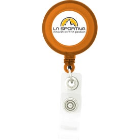 Advertising Round-Shaped Retractable Badge Holder
