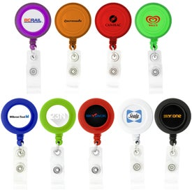 Custom Round-Shaped Retractable Badge Holder
