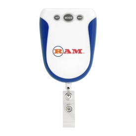 Logo Retractable Badge Holder Pedometer