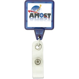 Printed Square Shaped Retractable Badge Holder