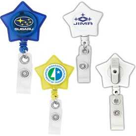 Star Shaped Retractable Badge Holder for Your Company