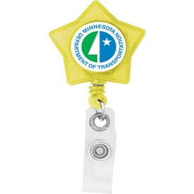 Star Shaped Retractable Badge Holder for your School