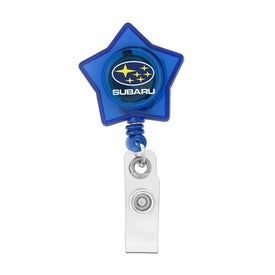 Personalized Star Shaped Retractable Badge Holder