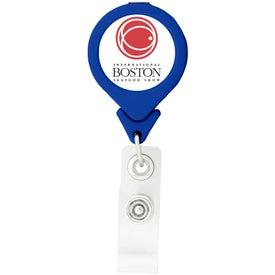 Logo Tear Drop Retractable Badge Holders
