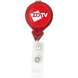 Tear Drop Retractable Badge Holders Printed with Your Logo
