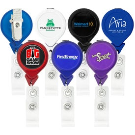 Promotional Tear Drop Retractable Badge Holders