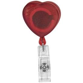 Retractable Badge Holder (Heart)