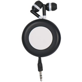 Customized Push Button Retractable Ear Buds