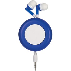 Push Button Retractable Ear Buds with Your Slogan