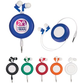 Push Button Retractable Ear Buds for Marketing